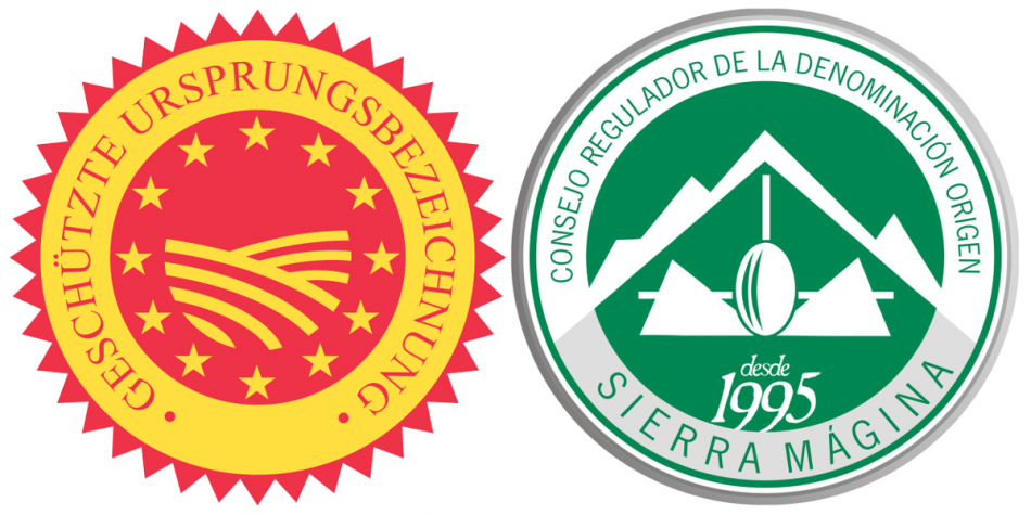 logotypes of PDO and DO Sierra Mágina